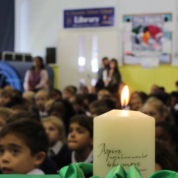 Children from Hendon in a CAFOD led assembly