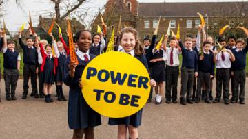 Children take part in our new Power to be campaign.