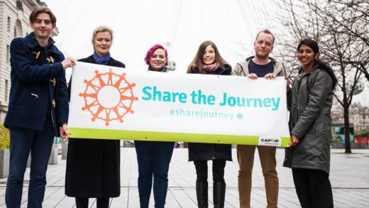 We are inviting you to join us around the World on a Share the Journey walk before the UN compacts are signed in September