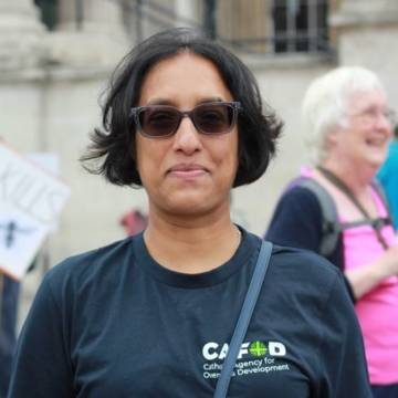 Tamara, a CAFOD supporter is campaigning against climate change for the first time