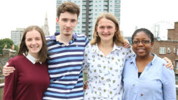 CAFOD volunteers Daisy, Francis and Orla are taking part in Step into the Gap.