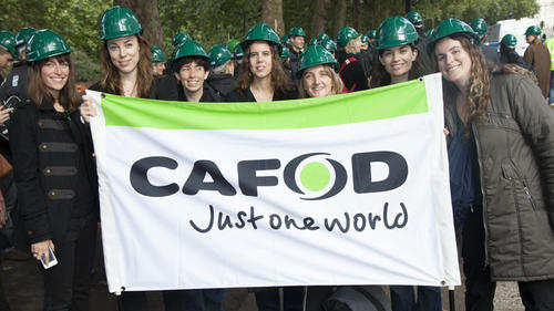 CAFOD with Stop Climate Chaos at the Treasury