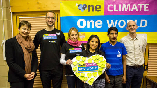 CAFOD supporters met with local MPs from different parties at One Climate, One World campaign launch events.