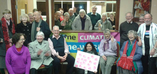 Bromsgrove CAFOD supporters take action in the One Climate, One World campaign.