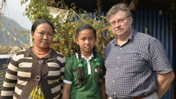 Former CAFOD Director Chris Bain in Nepal in 2016