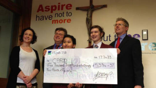 St Augustine's give to CAFOD