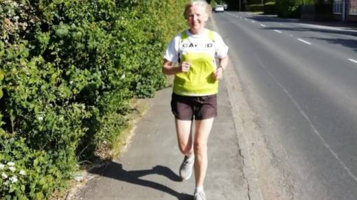 Marie Pennell completed a half-marathon to fundraise for CAFOD.