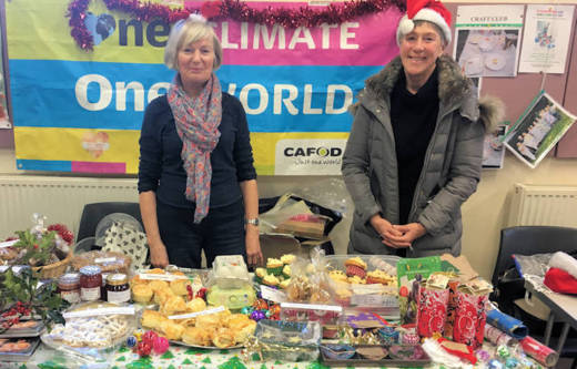 CAFOD volunteers fundraising at Freshfields Market