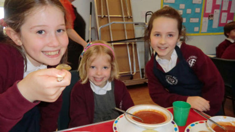 Pupils at St Godric's held a special Lent soup lunch fundraiser.