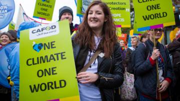 CAFOD supporters have been calling for climate action