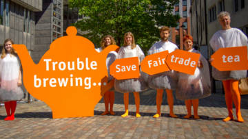 Sainsbury's Fairtrade protest