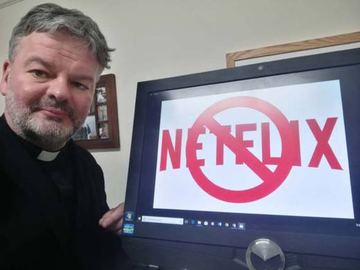 Fr Tim Byron giving up Netflix