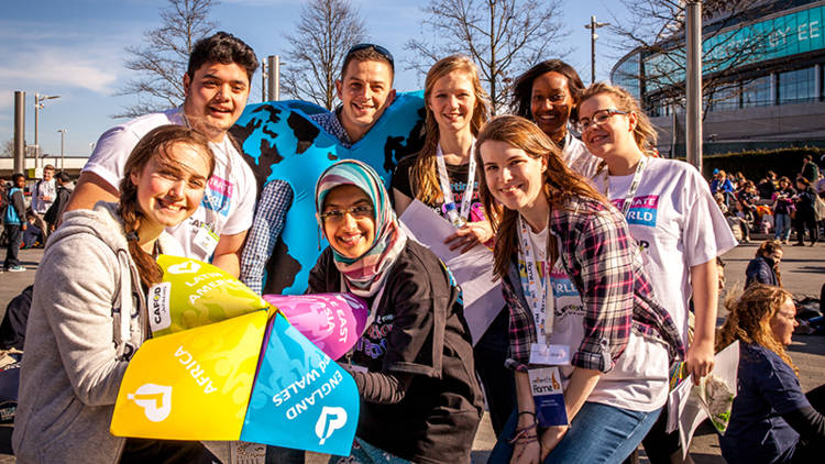 young people outside Flame 2 2015