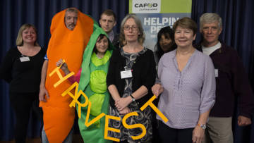 CAFOD volunteers fundraising at Harvest Fast Day 2016