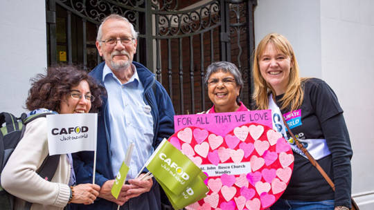 Portsmouth Volunteers at Speak Up for the Love Of.
