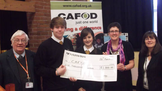 CAFOD Salford receives cheque