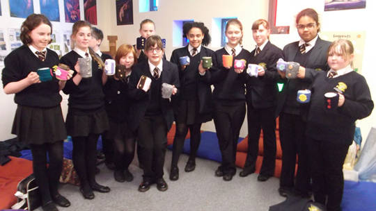 Kihanna's mug cosies for Fairtrade Fortnight