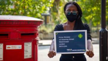 The petition urges Prime Minister Boris Johnson to support people hit hardest by the pandemic around the world