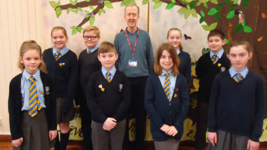 Children fundraising for the CAFOD refugee crisis appeal