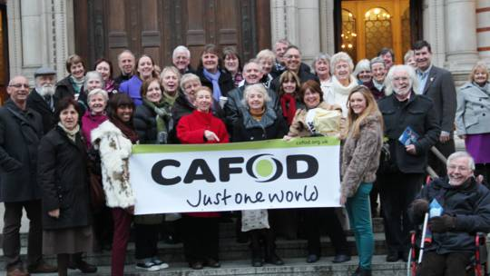 CAFOD supporters at Westminster Cathedral
