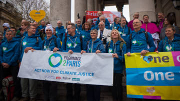 CAFOD campaigners are walking to Paris to call for climate change action