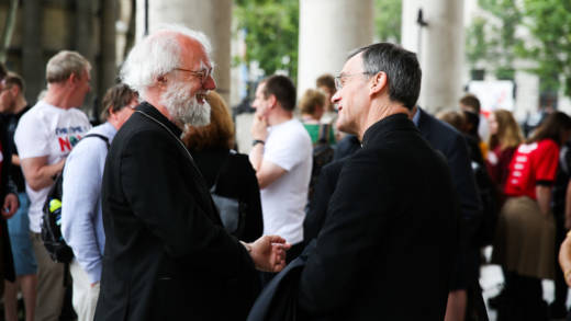 Former Archbishop of Canterbury Dr Rowan Williams and Bishop John Arnold are amongst the 77 faith leaders who have signed the letter to Chancellor Rishi Sunak