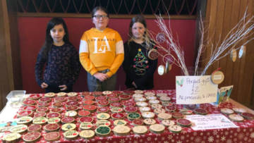 Year 6 pupils at St Mary's Catholic Primary School, Bodmin, decided to design and sell their own Christmas decorations.
