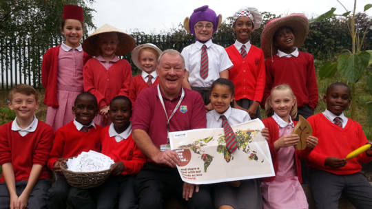 Pupils at St Ursula's, Harold Hill had a Big Silly Share assembly for Harvest Fast Day! Check out their silly hats!