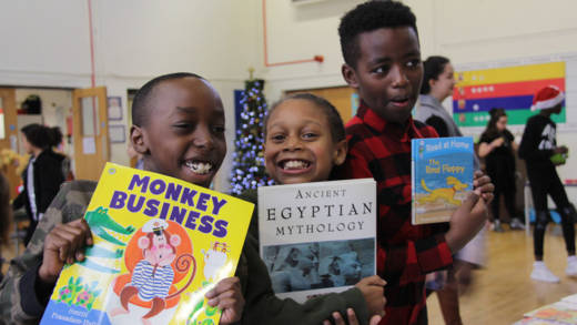 Children swap their toys and books to raise money for CAFOD.
