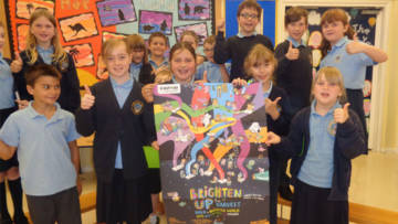 Children in Middlesbrough taking part in Brighten Up fundraising events