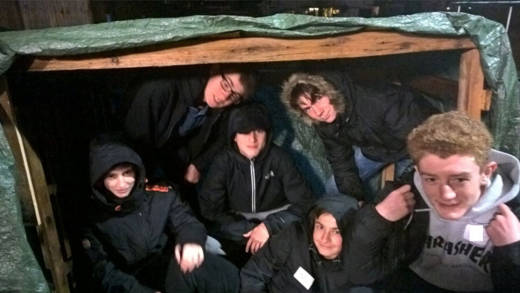 Young people from St Erconwald's Church in Walton-on-Thames held an overnight vigil and fundraiser for refugees.