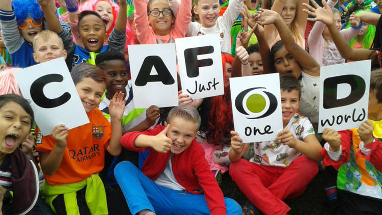 Children at St Joseph's primary school, Aldershot took part in Brighten Up fundraising with CAFOD for Harvest Fast Day.