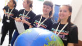 Kezia volunteering with CAFOD