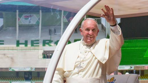 Pope Francis called for oil and gas companies to move from fossil fuels to renewable energy