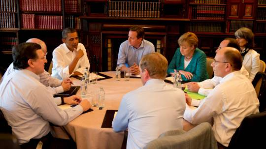 G8 leaders discuss issues of global importance at the 2013 summit in Lough Erne, Northern Ireland. Photo: G8 UK Presidency