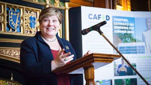 Emily Thornberry speaks passionately at the MPC event in Westminster