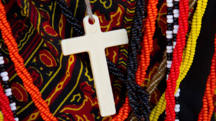 Africa - Kenya - colourful cross