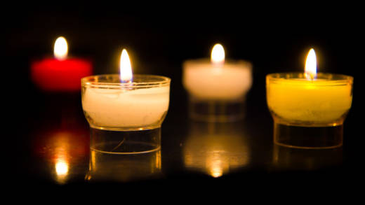 A photo of candles. More than 300 people have been killed in attacks in Sri Lanka.