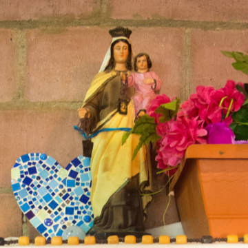 a statue of Our Lady in El Salvador