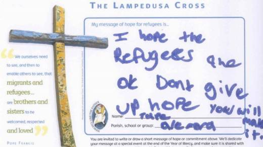 Thousands of CAFOD supporters have written messages of hope to refugees