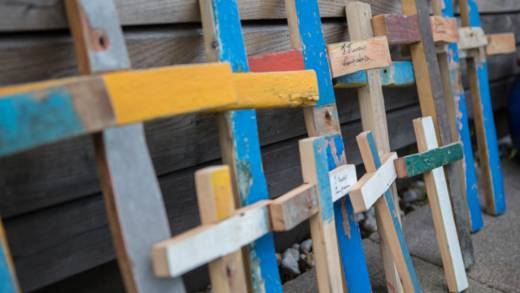 The Lampedusa cross is made from the driftwood of refugee boats
