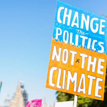 Placard at the global Climate Strike September 2019