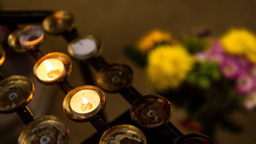 Candles in St George's Cathedral, Southwark