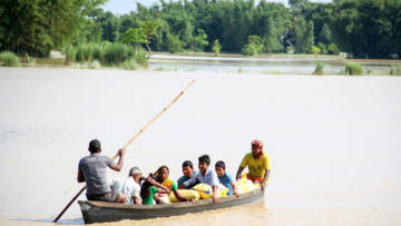 Following devastating flooding across South Asia such as Nepal here many people had to flee their home