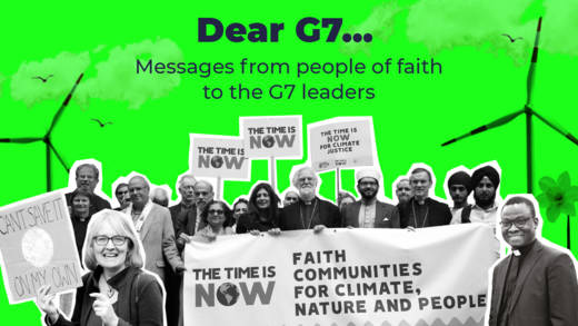 Messages from people of faith to the G7 leaders