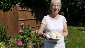 Elizabeth Wallace has baked cakes for CAFOD every month for over 30 years, raising an estimated £35,000