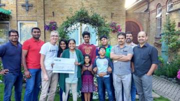 The Enfield Malayalee Association UK (ENMA) has raised cash for CAFOD by organising a special curry night celebrating Indian cuisine.