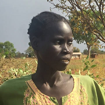 Monica in South Sudan is facing hunger