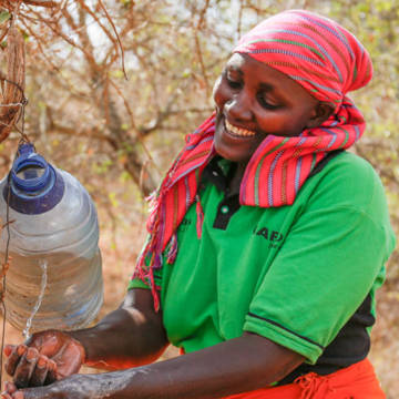 Martha from Kenya has improved her children's health thanks to this simple tippy tap