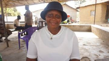 Margaret from Sierra Leone, who received a small loan to start a business.